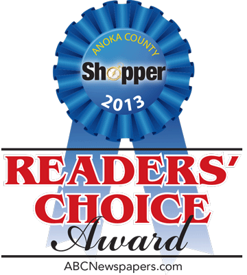 Anoka County Shopper Readers Choice Award, Best Orthopedic Surgeon, 2013