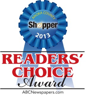 Anoka County Shopper - Reader's Choice Award 2013 for Best Orthopedic Surgeon