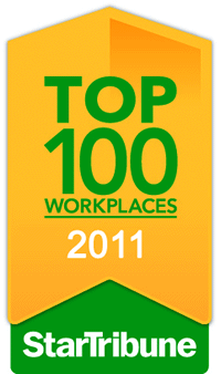 Top Workplace for 2011 by the Star Tribune