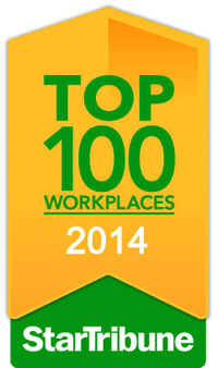 Top Workplace for 2014 by the Star Tribune